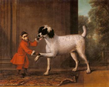 John Wootton : A Favorite Poodle And Monkey Belonging To Thomas Osborn
