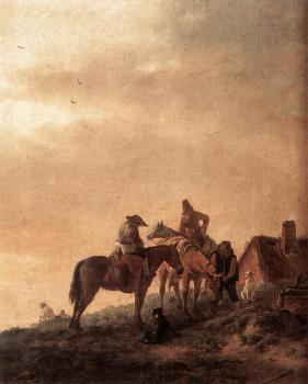 Philips Wouwerman : Rider's Rest Place