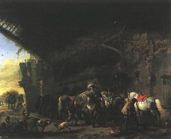 Scene in front of an Inn