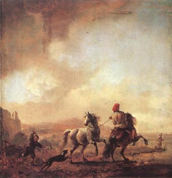 Philips Wouwerman : Two Horses