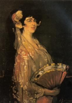 Ignacio Zuloaga Y Zabaleta : An Elegant Lady Fanning Herself