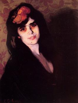 Ignacio Zuloaga Y Zabaleta : Portrait of a young woman