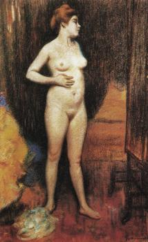 Federico Zandomeneghi : Naked woman in the mirror