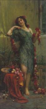 Girls with garlands of flowers II