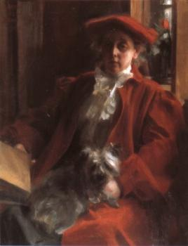 Anders Zorn : Emma Zorn and Mouche, the dog