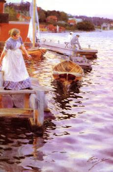 Anders Zorn : Lappings of the waves