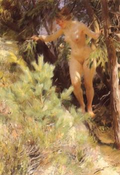 Anders Zorn : Nude under a fir