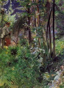 Woman in a Forest