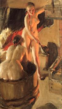 Anders Zorn : Women bathing in the sauna
