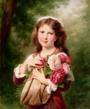 Fritz Zuber-Buhler : Portrait of a Young Girl