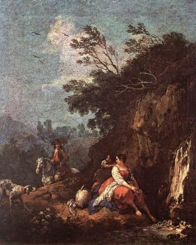 Francesco Zuccarelli : Landscape with a Rider