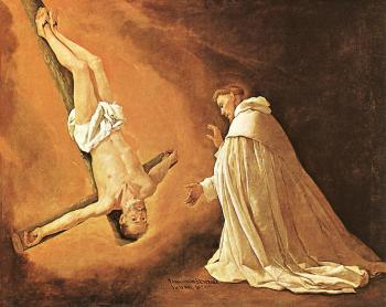 Francisco De Zurbaran : The Apparition of Apostle St Peter to St Peter of Nolasco