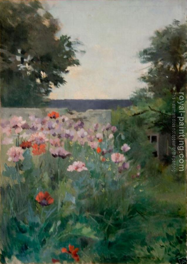 Jardin fleuri by Louise Abbema   Oil Painting Reproduction