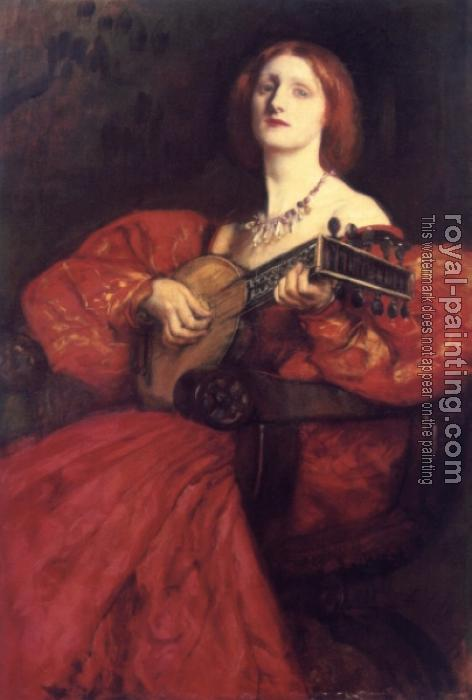 Edwin Austin Abbey : A Lute Player