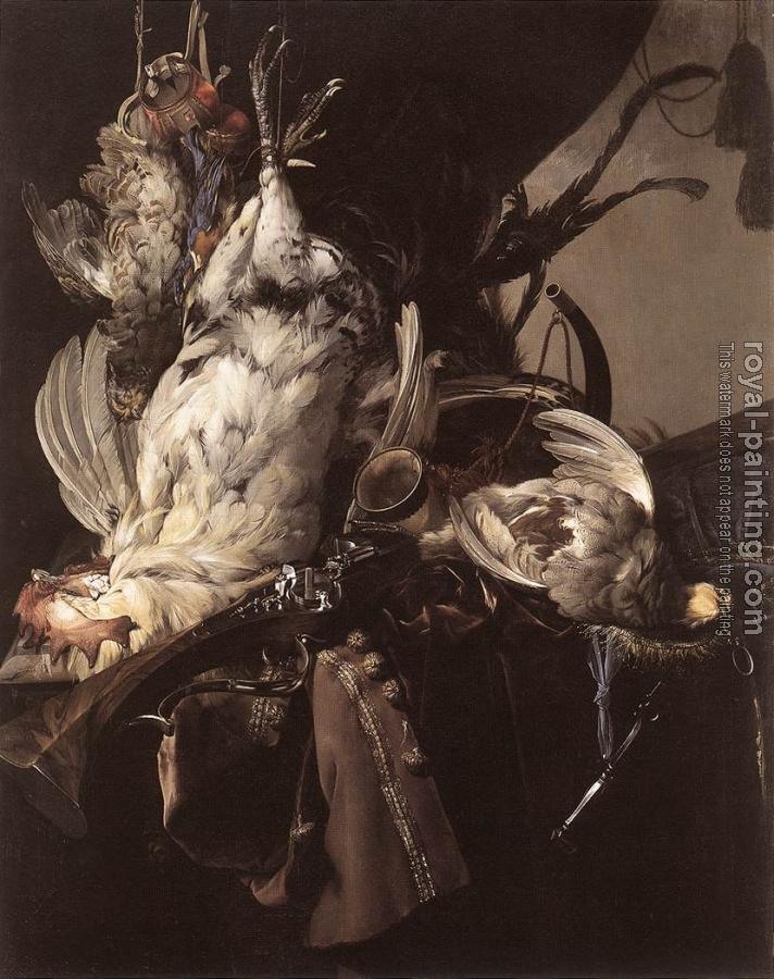 Willem Van Aelst : Still-Life of Dead Birds and Hunting Weapons