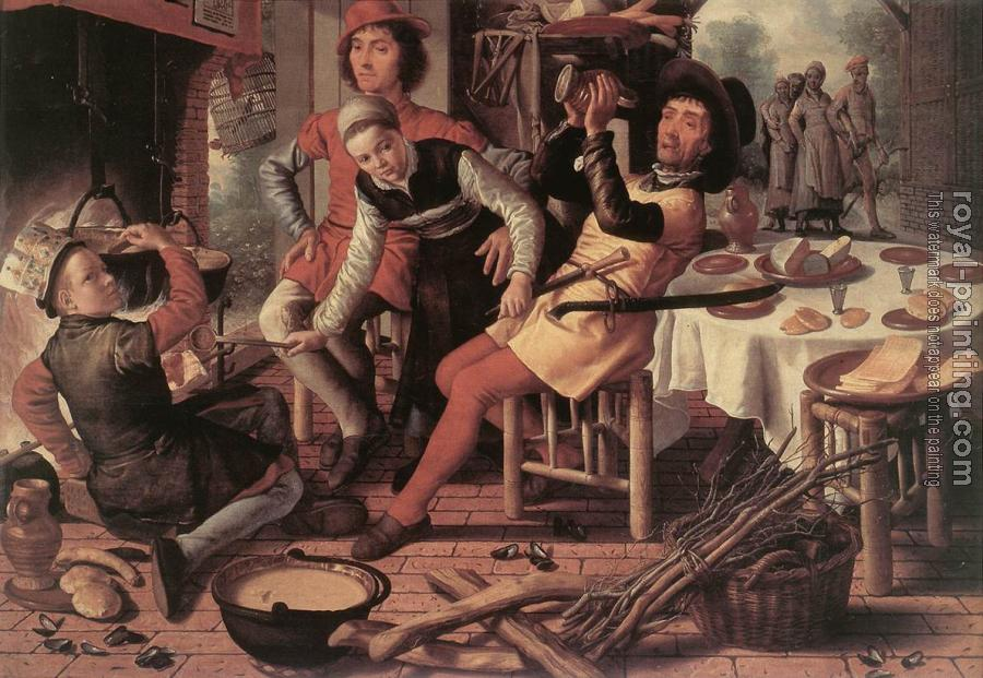 Pieter Aertsen : Peasants by the Hearth