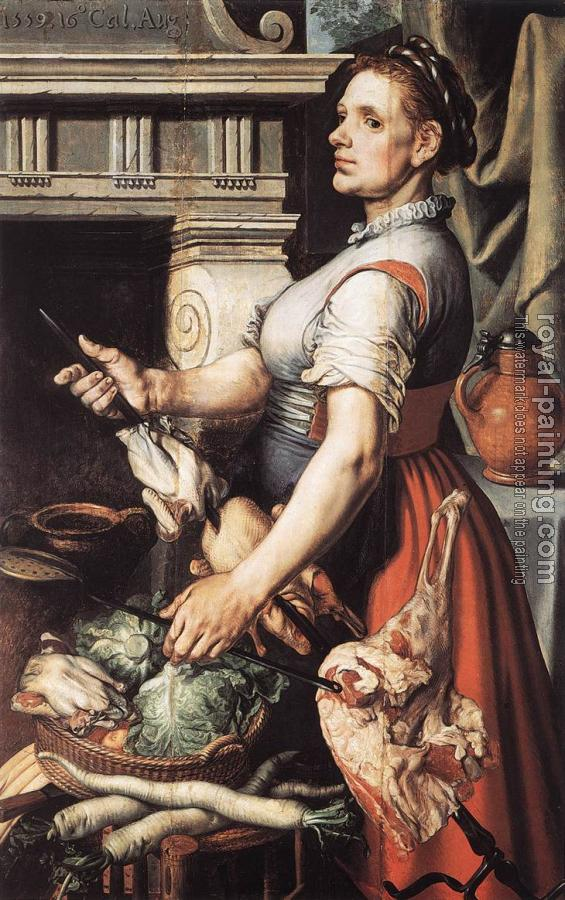 Pieter Aertsen : Cook in front of the Stove