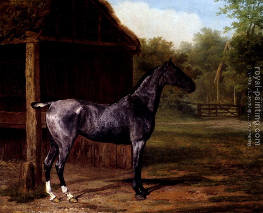 Jacques-Laurent Agasse : Lord Rivers' Roan mare In A Landscape