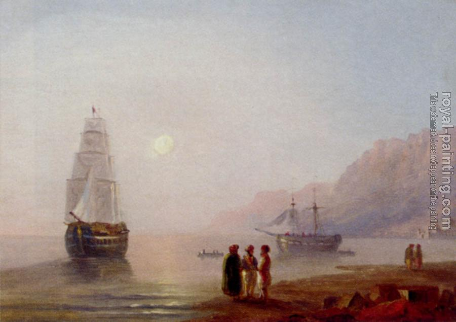 Ivan Constantinovich Aivazovsky : A Conversation On The Shore, Dusk