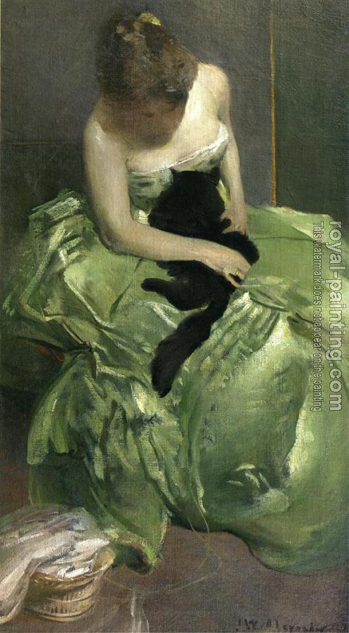 John White Alexander : The Green Dress