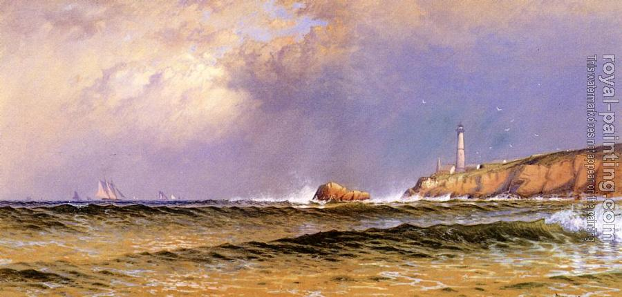 Alfred Thompson Bricher : Coastal Scene with Lighthouse