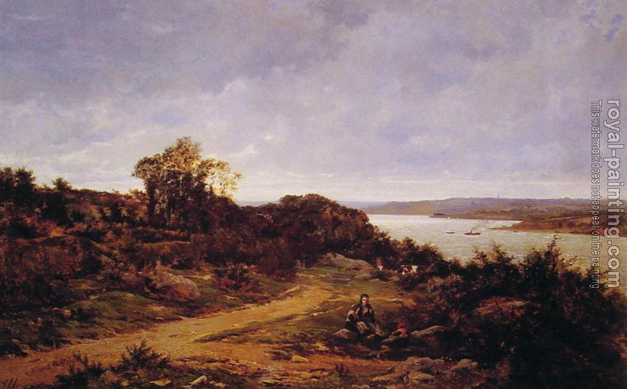 Auguste Allonge : View from Plougastel, Brittany