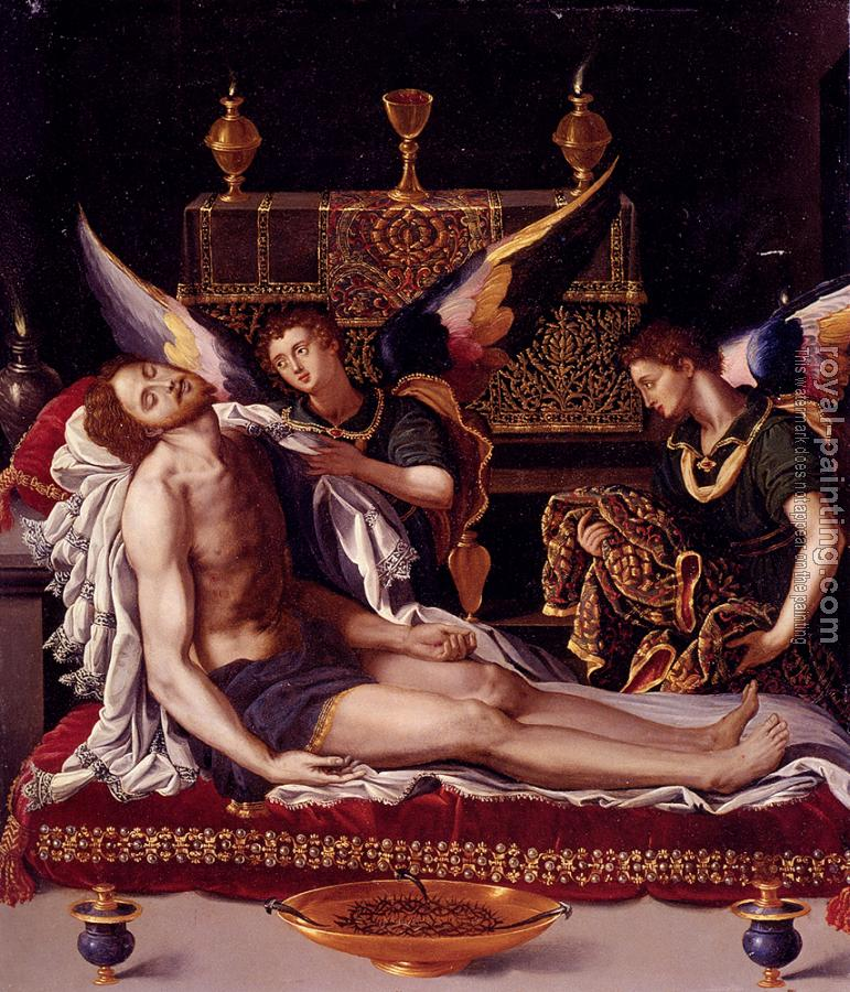 Alessandro Allori : Dead Christ Attended By Two Angels