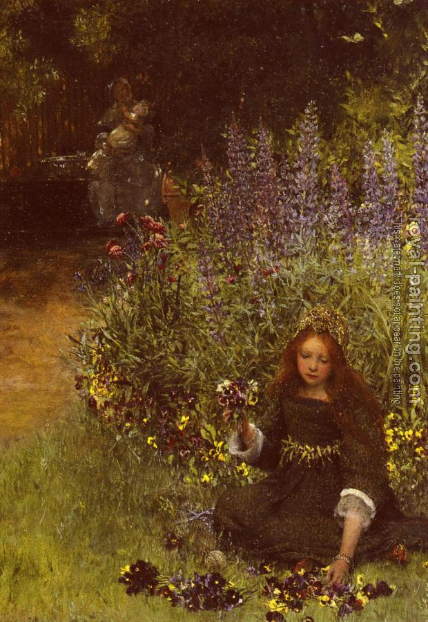 Lady Laura Teresa Alma-Tadema : Gathering Pansies