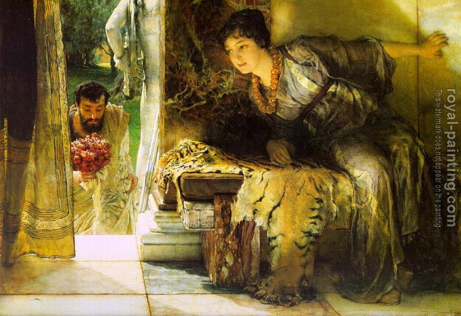 Sir Lawrence Alma-Tadema : Welcome Footsteps