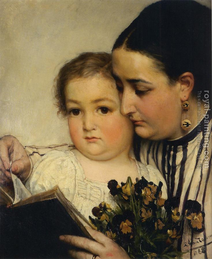 Sir Lawrence Alma-Tadema : Portrait of Mme Bonnefoy and M. Puttemans