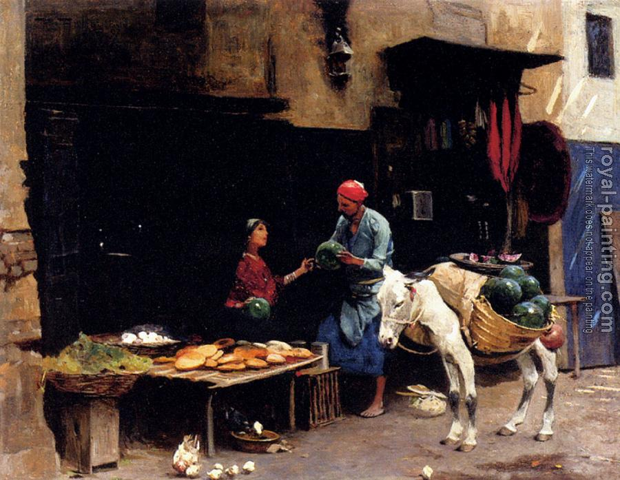 Raphael Von Ambros : The Watermelon Seller