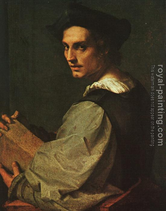 portrait of a young man by andrea del sarto oil painting
