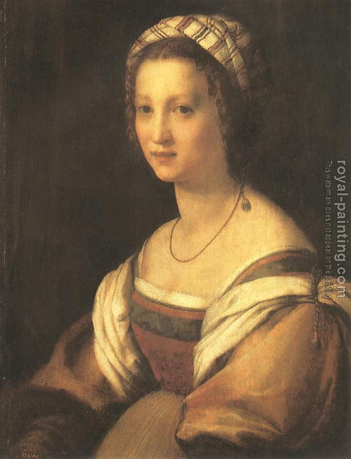 Andrea Del Sarto : Portrait of the Artist's Wife