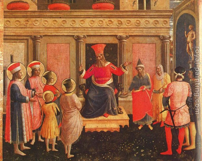 Fra Angelico : Saints Cosmas and Damian with their Brothers before Lycias