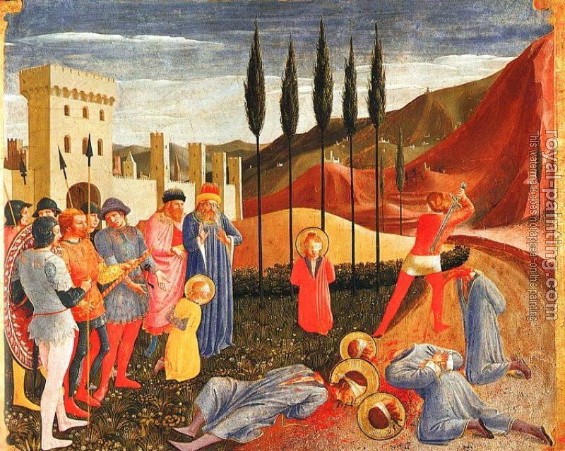 Fra Angelico : Decapitation of Saints Cosmas and Damian