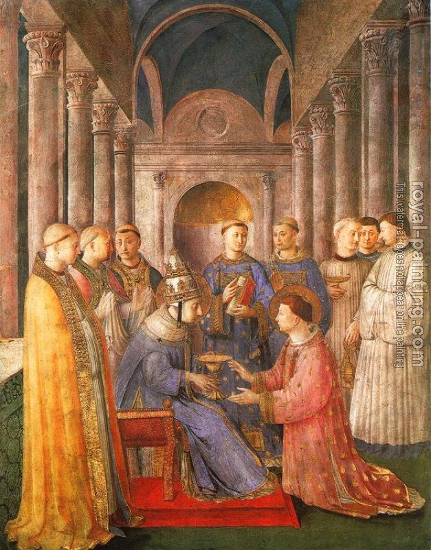 Fra Angelico : The Ordination of Saint Lawrence