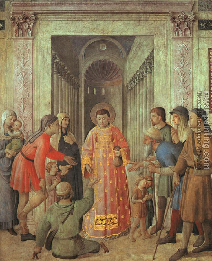 Fra Angelico : Saint Lawrence Distributing Alms