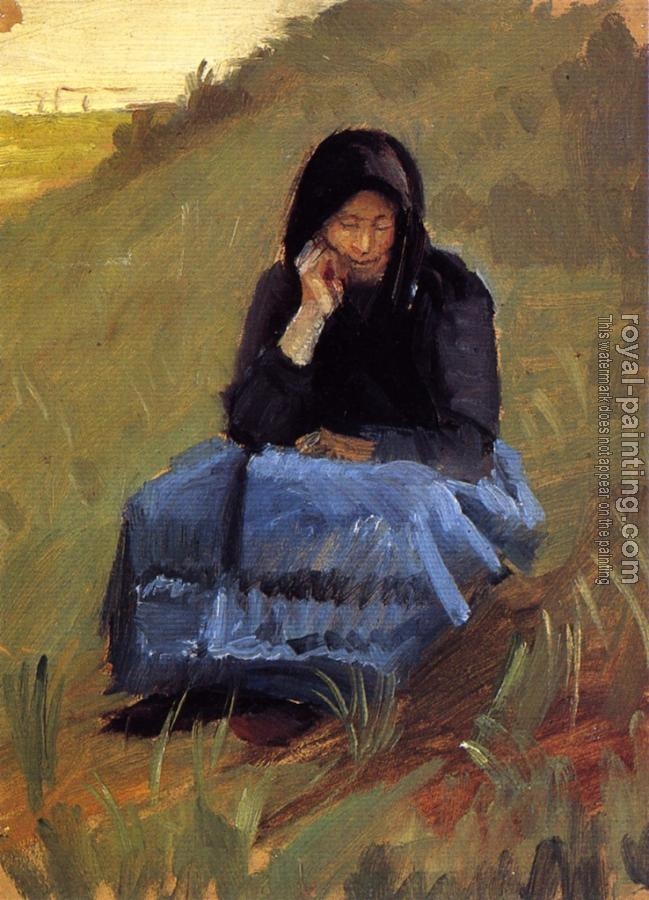 Anna Ancher : Figure study for the mission meeting
