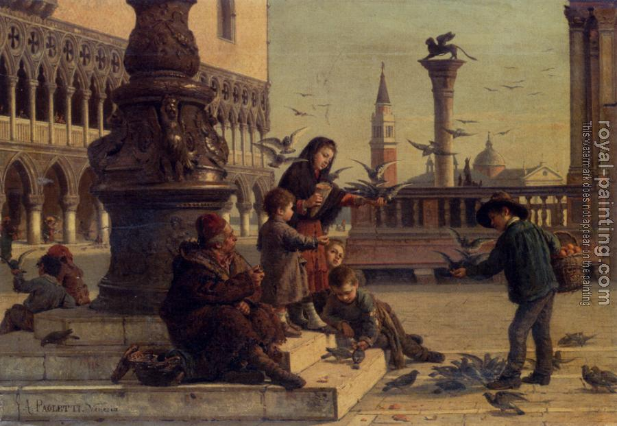 Antonio Paoletti : Feeding The Pigeons