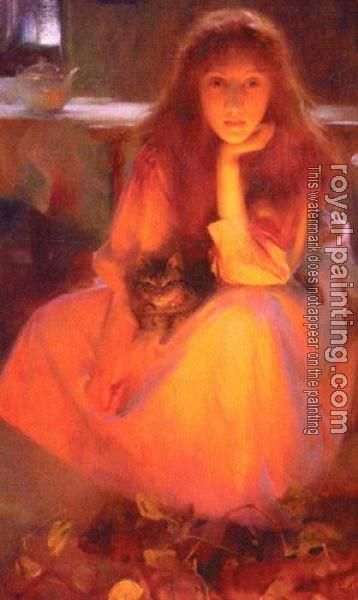 Arthur Hacker : Fire Fancies