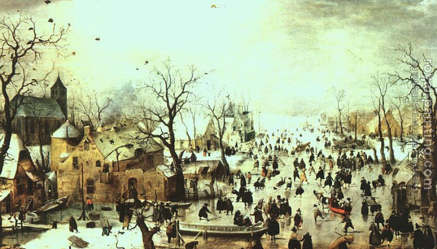 Hendrick Avercamp : Graphic Winter Landscape
