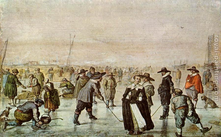 Hendrick Avercamp : A Scene On The Ice