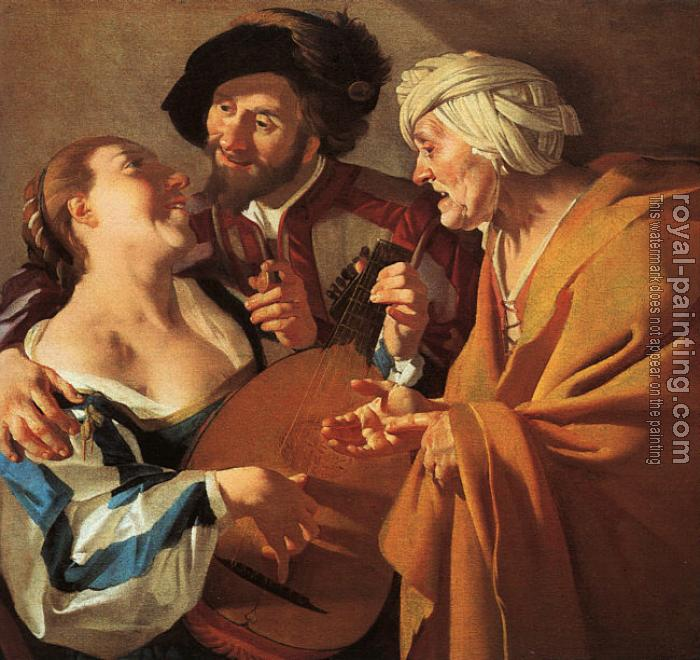 Dirck Van Baburen : Graphic The Procuress