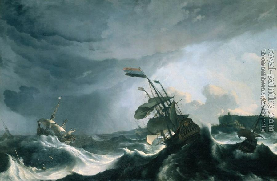 Ludolf Backhuysen : Ships in Distress in a Heavy Storm