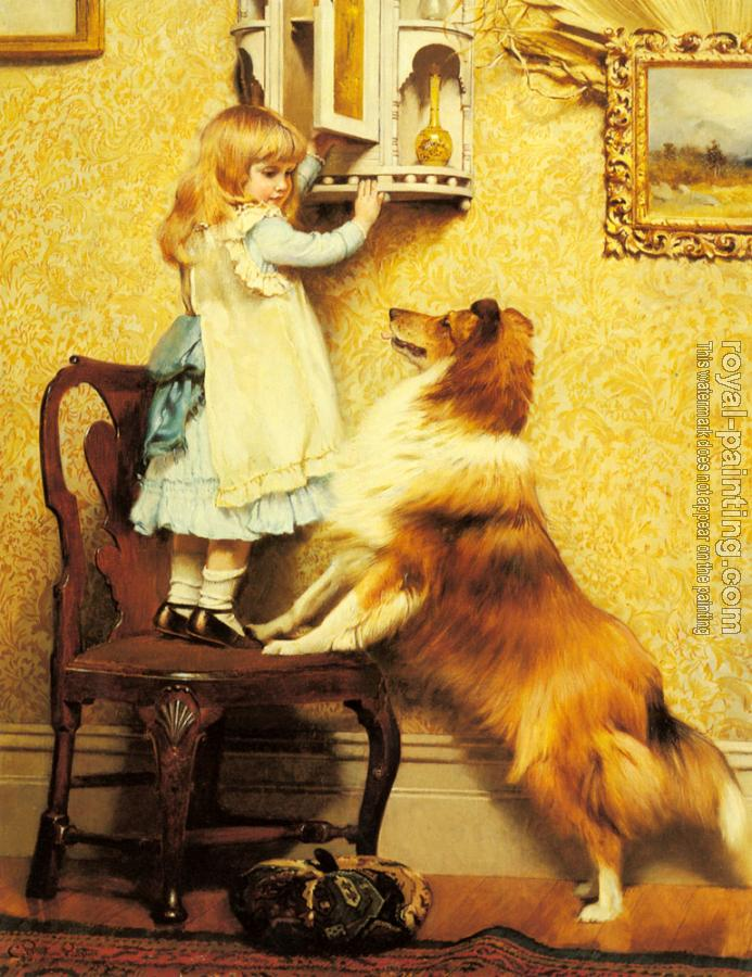 Charles Burton Barber : A Little Girl and her Sheltie