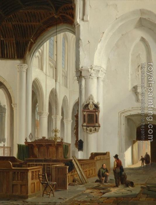 Interieur van de grote kerk in den haag by bartholomeus for Interieur den haag
