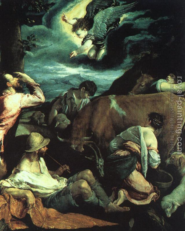Jacopo Bassano : Graphic The Annunciation to the Shepherds