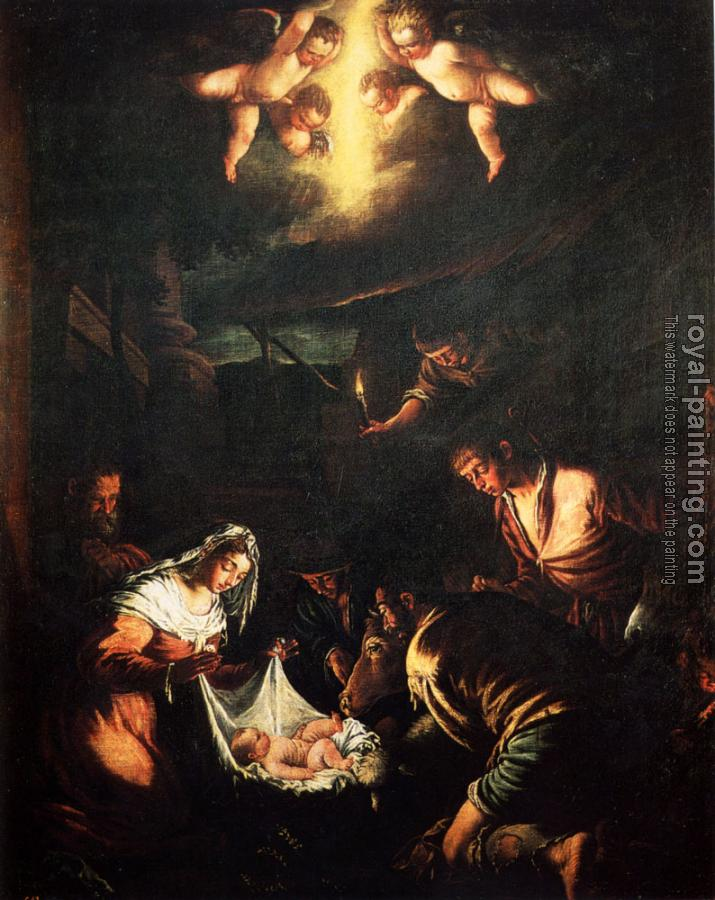 Jacopo Bassano : The Adoration Of The Shepherds
