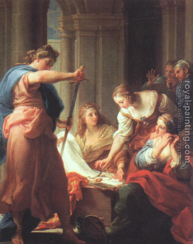 Pompeo Batoni : Graphic Achilles at the Court of Lycomedes