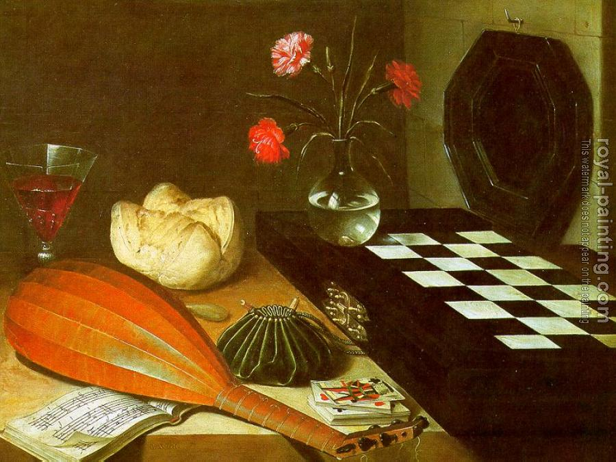 Lubin Baugin : Graphic The Five Senses (Still-Life with Chessboard)
